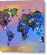 World Peace Tye Dye Metal Print