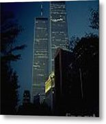 World Trade Center At Dusk Metal Print