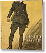 World War I, Poster Shows A Wounded Metal Print