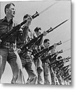 World War II, Bayonet Practice Metal Print by Everett