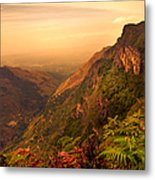 Worlds End. Horton Plains National Park. Sri Lanka Metal Print