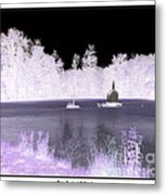 Worlds Smallest Chapel Church Negative Inverted Image Metal Print