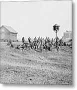 Wounded African-american Soldiers Metal Print by Everett