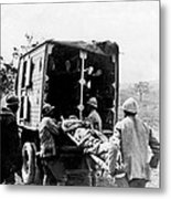 Wounded At The Battle Of Somme - Wwi -- France Metal Print