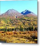 Wrangell Mountains Colors Metal Print