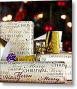 Wrapped Gifts With Tags Metal Print