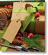 Wrapping Gifts For The Holidays Metal Print