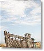 Wrecked Boat Metal Print