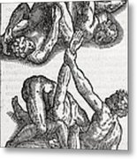 Wrestling Moves, 16th Century Artwork Metal Print