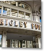 Wrigley Building Sign In Chicago Metal Print