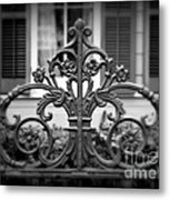 Wrought Iron Detail Metal Print by Perry Webster