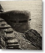 Wwii Pill Box Metal Print by Leslie Leda