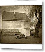 Wye Mill - Sepia Metal Print