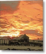 Wyoming Sunrise 1 Metal Print