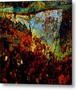 Wyoming Waterfall Abstract Metal Print