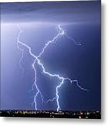 X Lightning Bolt In The Sky Metal Print