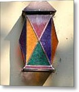 X Marks The Lamp Metal Print