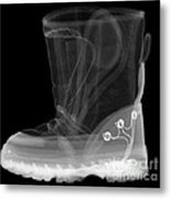 X-ray Of A Childs Light-up Boot Metal Print