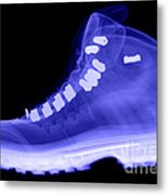 X-ray Of A Hiking Boot Metal Print