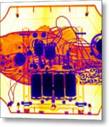 X-ray Of Mechanical Fish Metal Print
