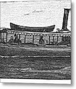 Yacht, 1882 Metal Print