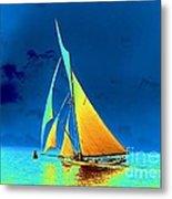 Yacht Gloriana 1891 Metal Print