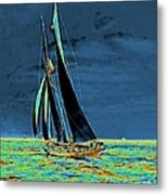 Yacht Idler Races For America's Cup 1901 Metal Print