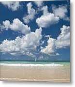 Yacht In The Distance Off The West Metal Print