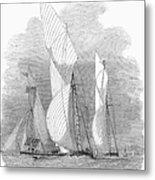 Yacht Race, 1855 Metal Print