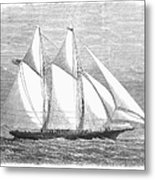 Yacht: Sappho, 1868 Metal Print