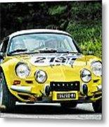 Yellow Alpine Renault Metal Print
