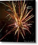Yellow And Red Fireworks Metal Print
