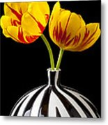 Yellow And Red Tulips Metal Print