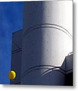Yellow Balloon Metal Print