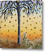 Yellow-blossomed Wishing Tree Metal Print