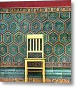 Yellow Chair At The Imperial Palace Metal Print