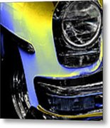 Yellow Chrysler Metal Print