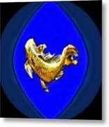 Yellow Digital Art Koi Metal Print