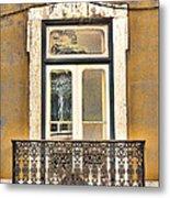 Yellow Facade And Window Metal Print