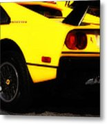 Yellow Ferrari Metal Print