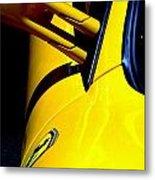 Yellow Ferrari Metal Print