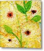 Yellow Flowers Laugh In Joy Metal Print by Ashleigh Dyan Bayer