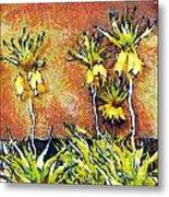Yellow Flowers Metal Print by Odon Czintos
