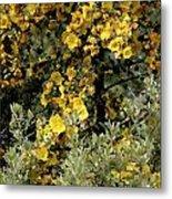 Yellow Flowers On Tree Metal Print