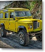 Yellow Jeep Metal Print