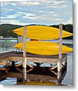 Yellow Kayaks Metal Print