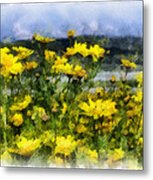 Yellow Landscape Metal Print