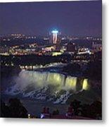 Yellow Light Over The Niagara Falls  - Canada Metal Print