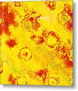 Yellow Mud Bubbles Metal Print