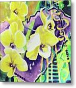 Yellow Orchids Of The Heart Metal Print